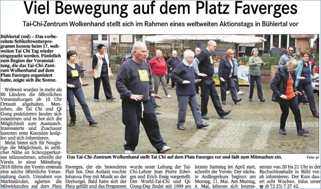 Welt Tai Chi Tag 2015 - BT