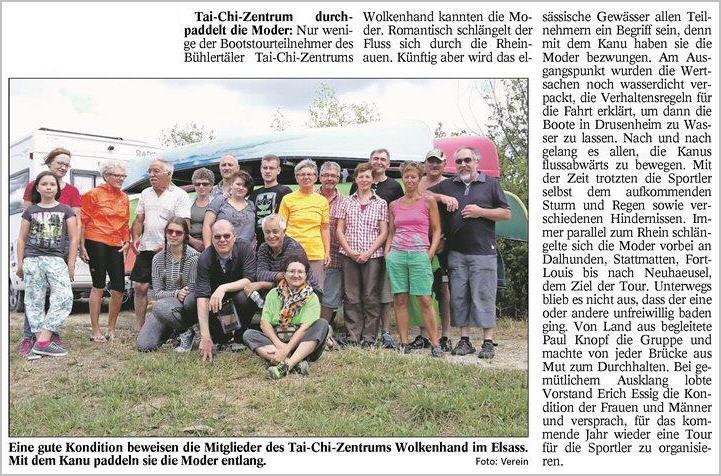 Badisches Tagblatt Kanuausflug