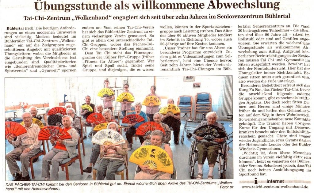 Bericht aus Acher und Bühler Bote - Juli 2016