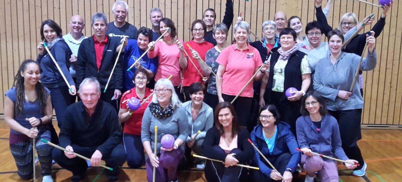 angehende Übungsleiter Sportschule Steinbach